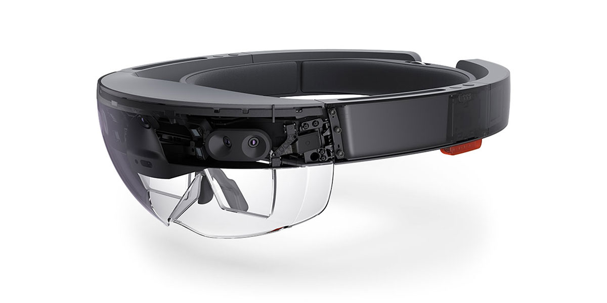 the Microsoft Hololens